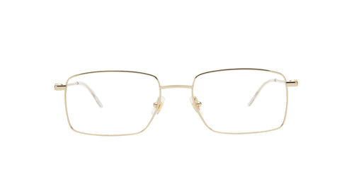 Mont Blanc - MB0076O Gold Rectangular Men Eyeglasses - 55mm