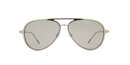 Montblanc - MB0059S Silver/Silver Aviator Men Sunglasses - 59mm