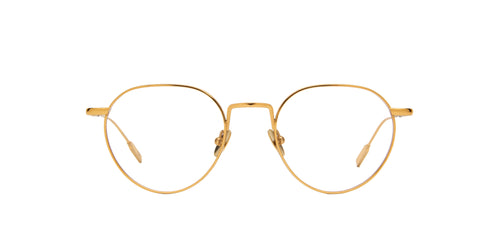 Mont Blanc - MB0079O Gold Oval Men Eyeglasses - 49mm