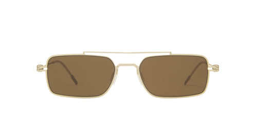 Montblanc - MB0051S Gold/Brown Rectangular Men Sunglasses - 54mm