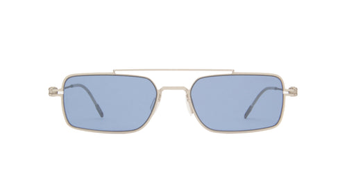 Montblanc - MB0051S Silver/Blue Rectangular Men Sunglasses - 54mm