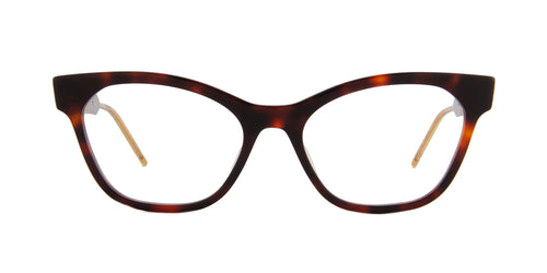 Gucci - GG0600O Havana Cat Eye Women Eyeglasses - 54mm