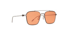 Montblanc - MB0050S Ruthenium/Orange Aviator Men Sunglasses - 54mm