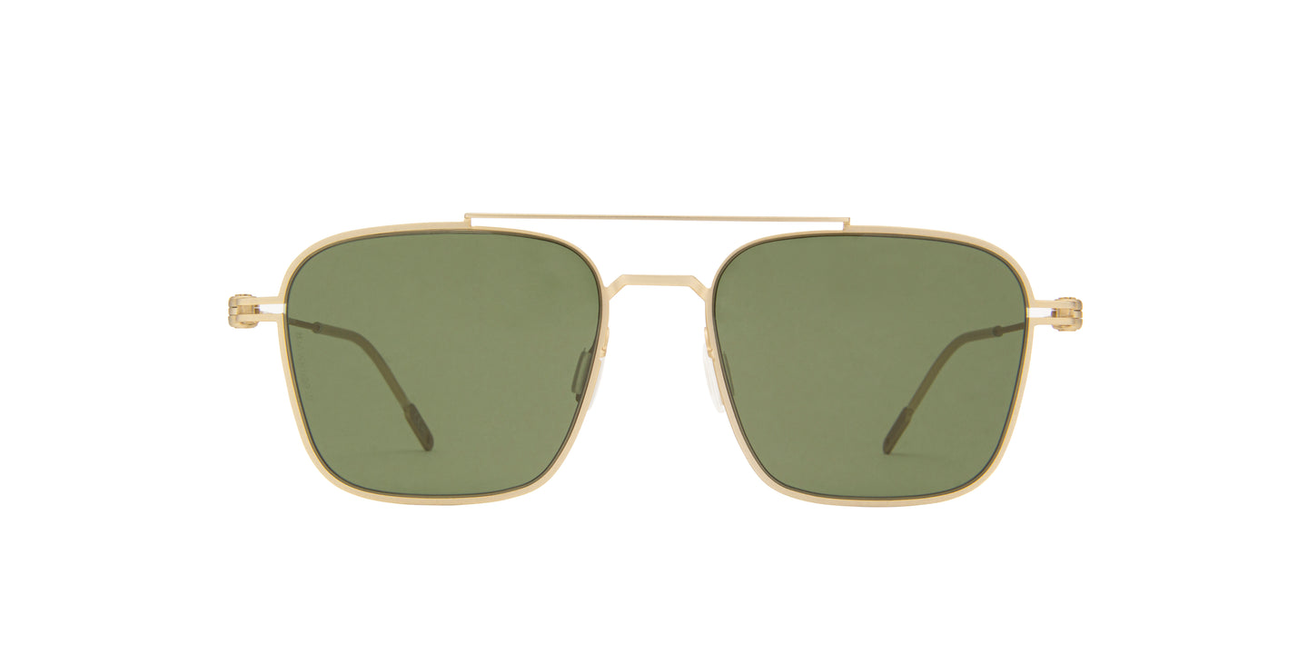 Montblanc - MB0050S Gold/Green Aviator Men Sunglasses - 54mm