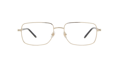 Montblanc - MB0072O Gold/Clear Rectangular Men Eyeglasses - 57mm