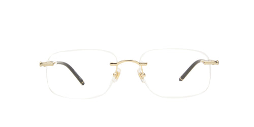 Montblanc - MB0071O Gold/Clear Rimless Men Eyeglasses - 58mm