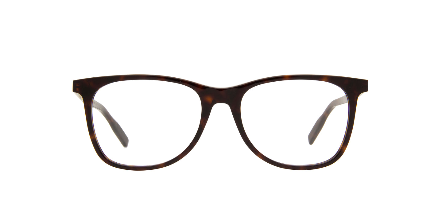 Montblanc - MB0057O Havana/Clear Rectangular Men Eyeglasses - 55mm
