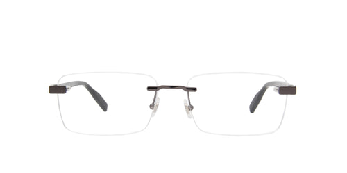 Montblanc - MB0055O Ruthenium/Clear Rimless Men Eyeglasses - 59mm