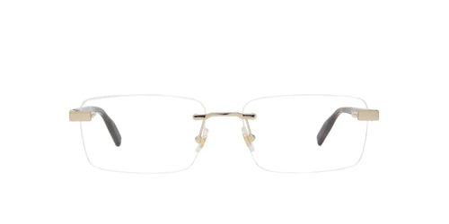 Montblanc - MB0055O Gold/Clear Rimless Men Eyeglasses - 59mm