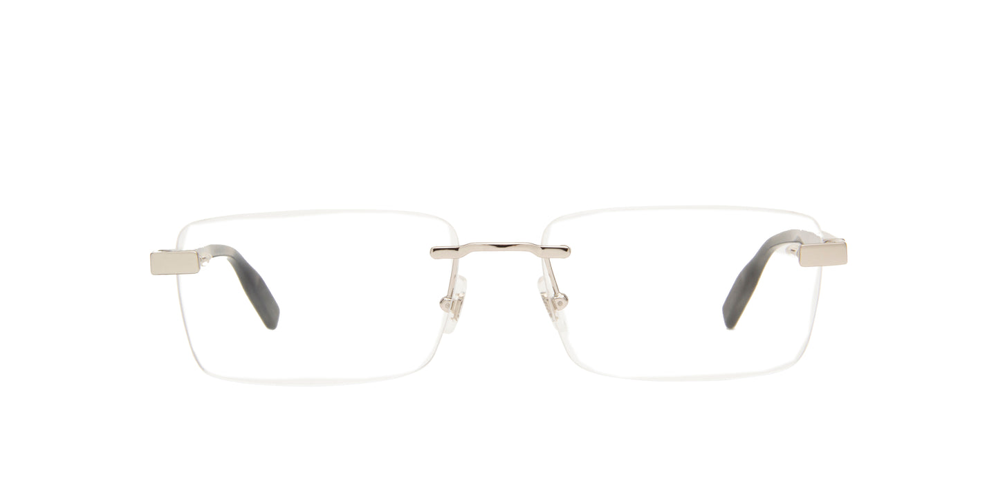 Montblanc - MB0055O Silver/Clear Rimless Men Eyeglasses - 59mm