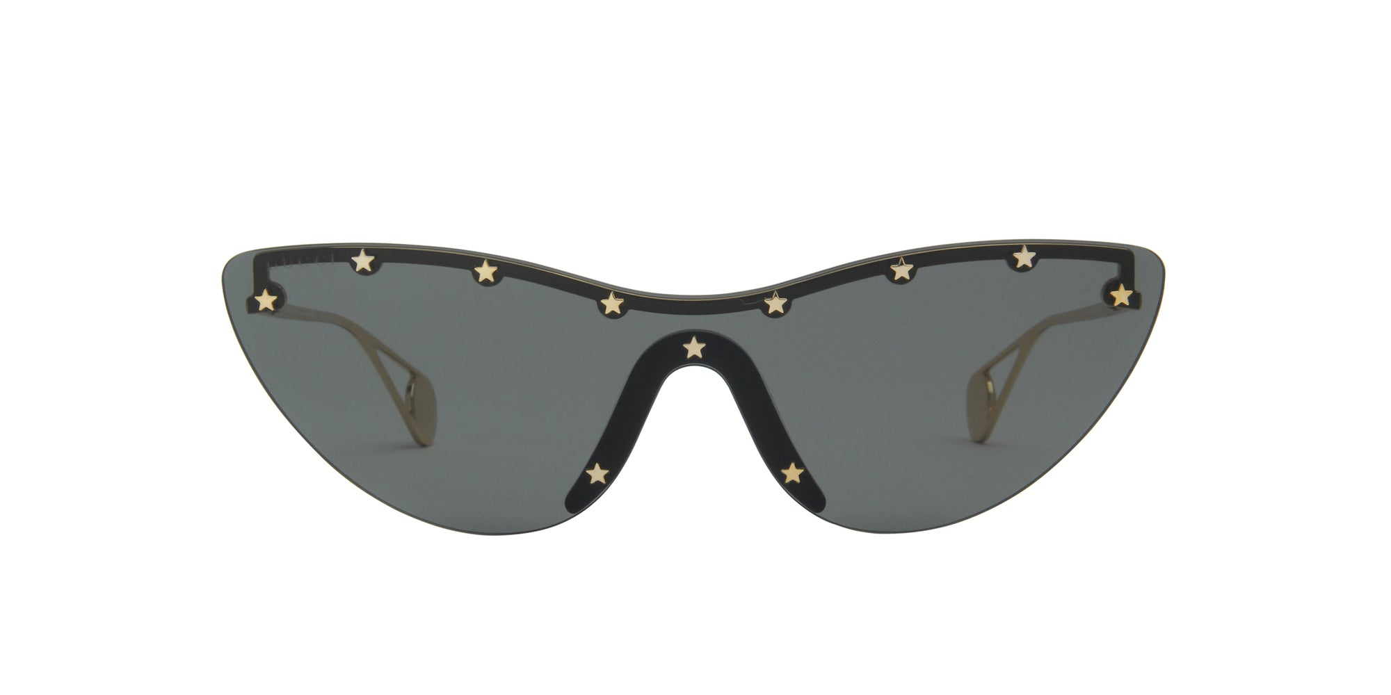 Gucci - GG0666S Gold/Grey Shield Women Sunglasses - 99mm