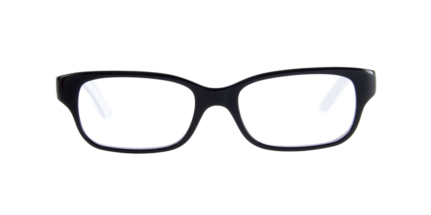 Ray Ban Jr - RY1527  Black/White Rectangular Kids Eyeglasses - 45mm