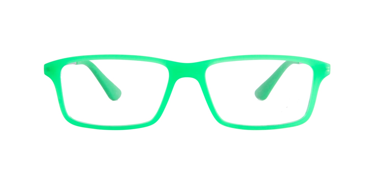 Ray Ban Jr - RY1540 Green Rectangular Kids Eyeglasses - 49mm
