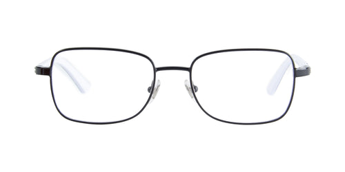 Ray Ban Jr - RY1036 Black/White Rectangular Kids Eyeglasses - 47mm