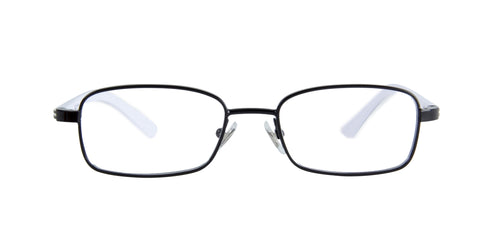 Ray Ban Jr - RY1037 Black/White Rectangular Kids Eyeglasses - 45mm