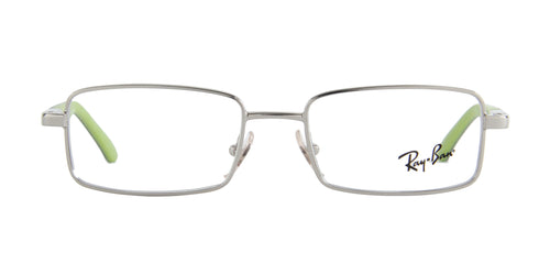 Ray Ban Jr - RJ1033  Silver/Green Rectangular  Eyeglasses - 47mm