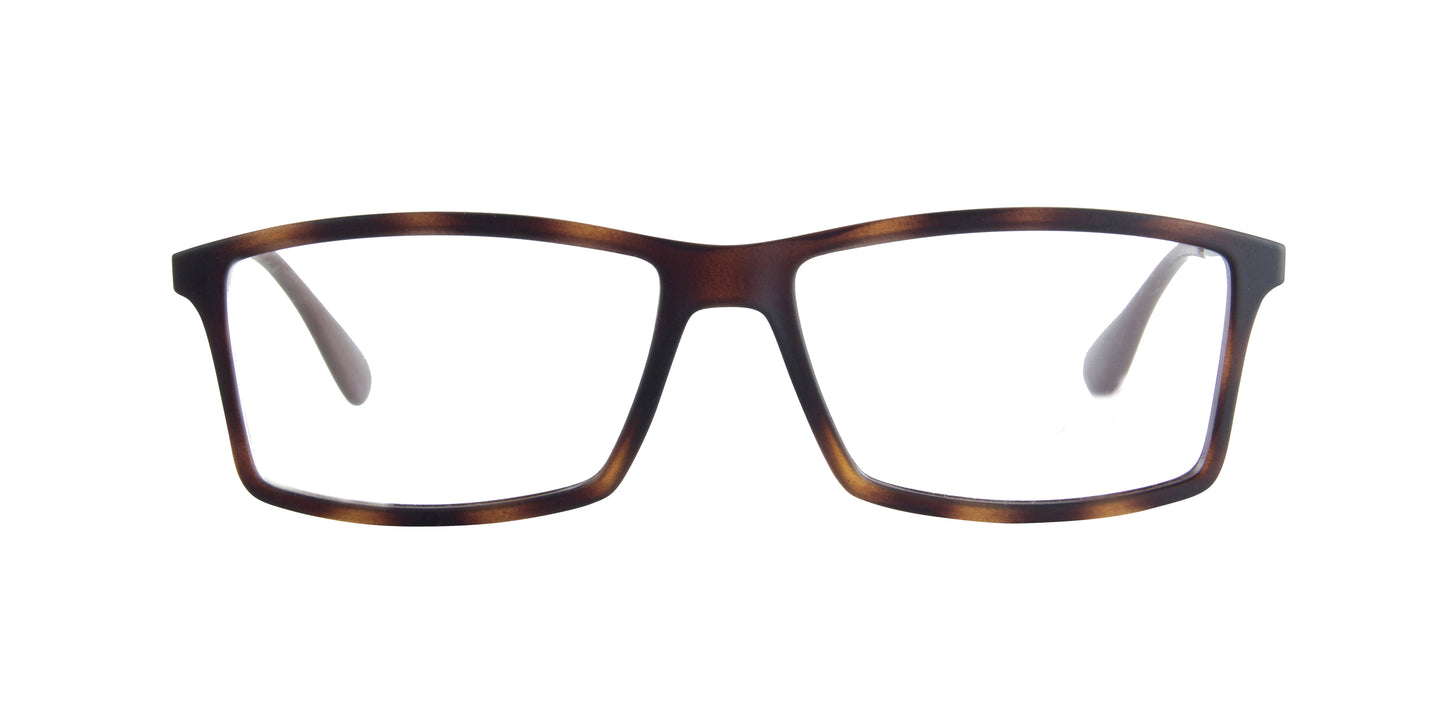 Ray Ban Rx - RX7021 Rub Havana Rectangular  Eyeglasses - 55mm