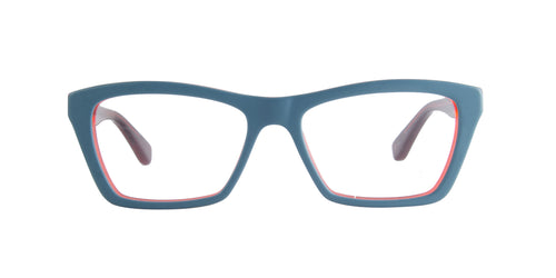 Ray Ban Rx - RX5316 Turquoise/Red Rectangular  Eyeglasses - 51mm