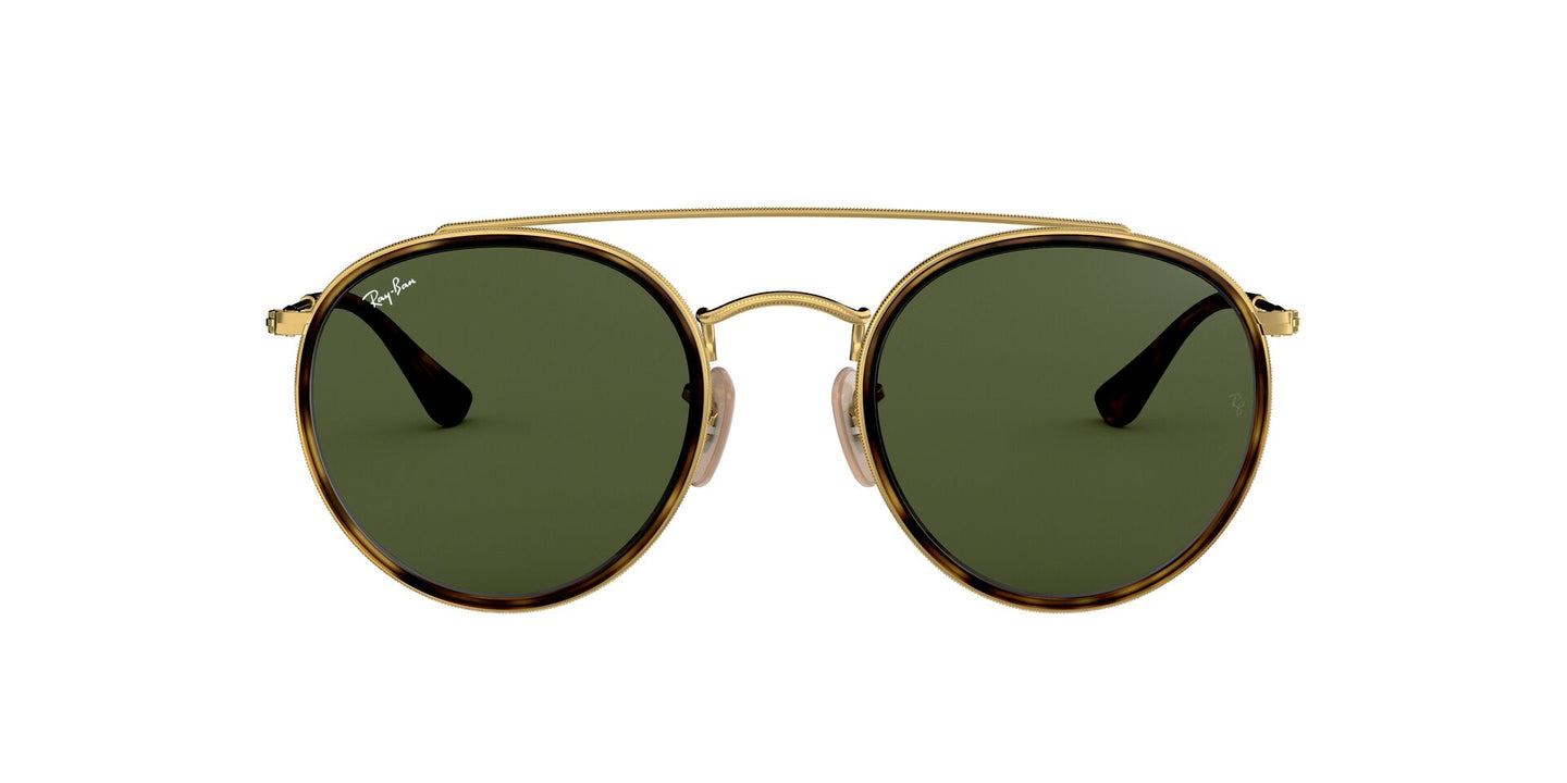 Ray Ban - RB3647-N Gold/Green Oval Unisex Sunglasses - 51mm