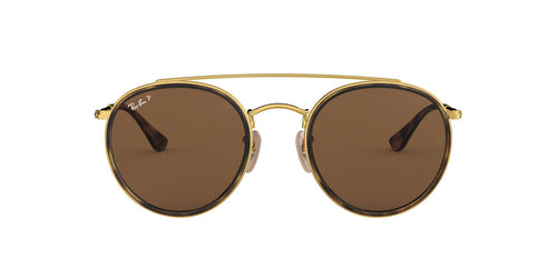 Ray Ban - RB3647-N Gold Oval Unisex Sunglasses - 51mm