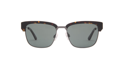 Spy - Bellows Dark Tortoise Gunmetal/Green Rectangular Men Sunglasses - 55mm