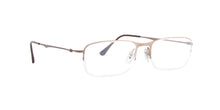 Ray Ban Rx - RX8714 Matte Bronze Semi Rimless  Eyeglasses - 53mm