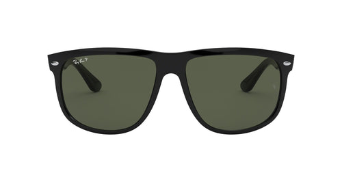 Ray Ban - Boyfriend Black Square Men Sunglasses - 56mm
