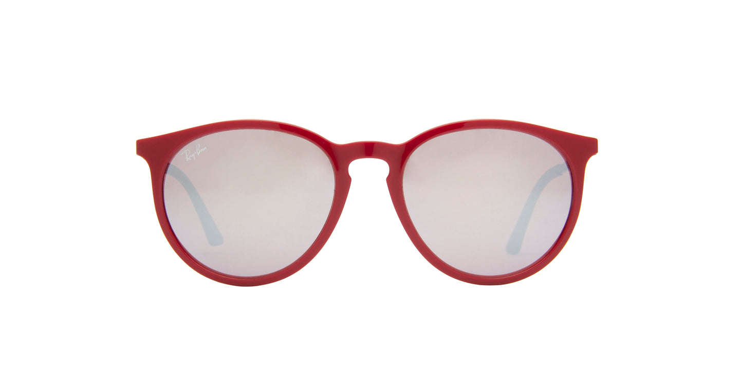 Ray Ban - RB4274 Burgundy/Silver Mirror Oval Women Sunglasses - 53mm