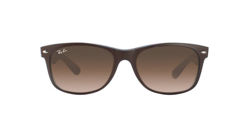 Ray Ban - New Wayfarer Brown Wayfarer Unisex Sunglasses - 55mm
