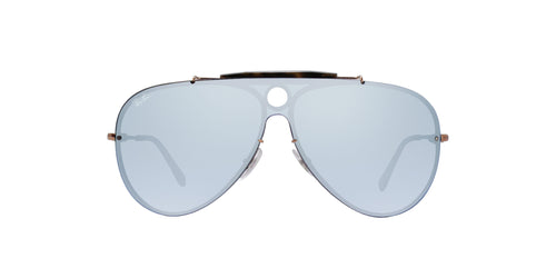 Ray Ban - Blaze Shooter Bronze/Blue  Mirror Aviator Unisex Sunglasses - 32mm