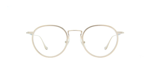 Matsuda - M3058 Gold/Clear Oval Unisex Sunglasses - 48mm
