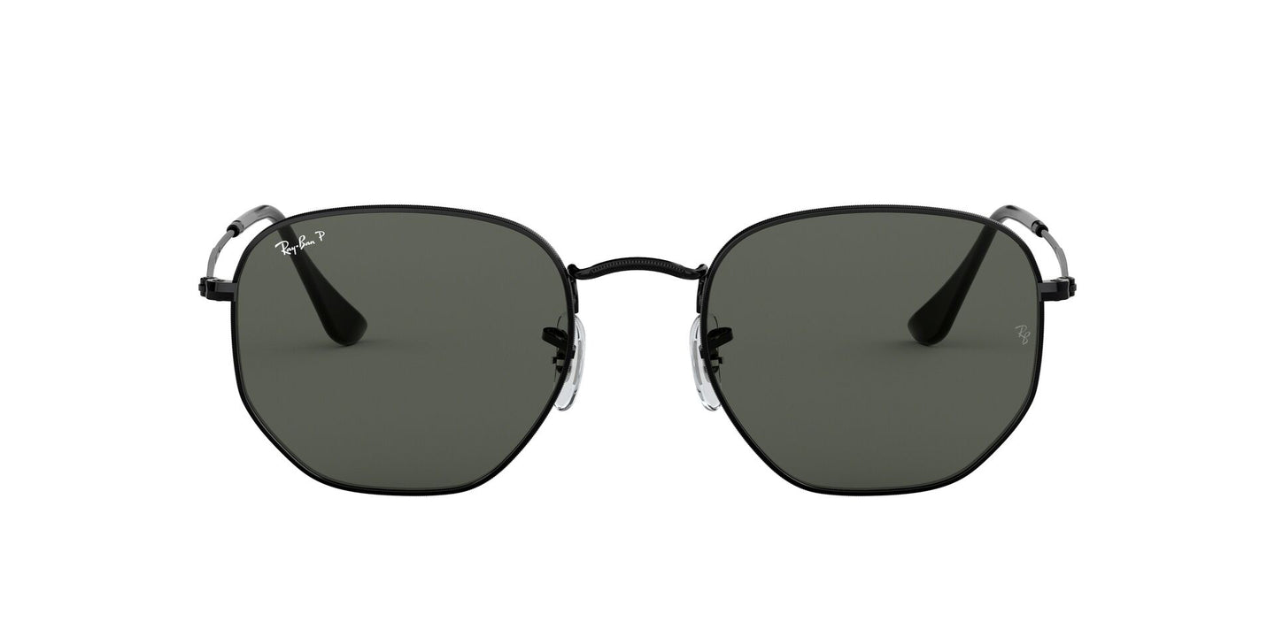 Ray Ban - RB3548N Black/Polar Green Polarized Irregular Unisex Sunglasses - 54mm