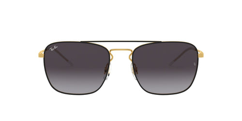 Ray Ban - RB3588 Black Gold/Gray Gradient Rectangular Unisex Sunglasses - 55mm
