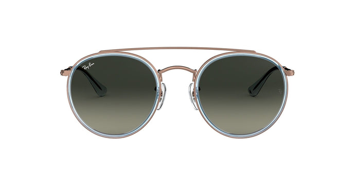 Ray Ban - RB3647N Bronze/Green Gradient Oval Unisex Sunglasses - 51mm