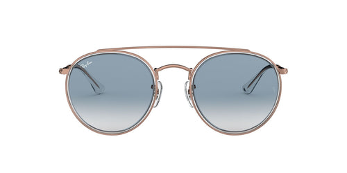 Ray Ban - RB3647N Rose Gold Oval Unisex Sunglasses - 51mm