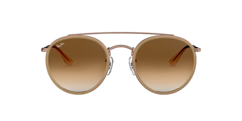 Ray Ban - RB3647N Light Brown Oval Unisex Sunglasses - 51mm