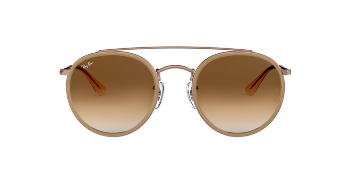 Ray Ban - RB3647N Light Brown/Brown Gradient Oval Unisex Sunglasses - 51mm