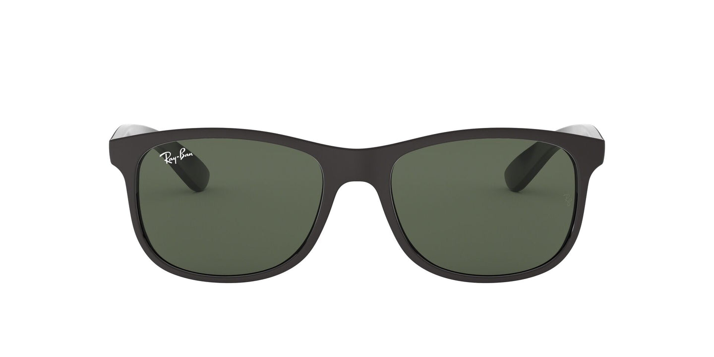 Ray Ban - Andy Black/Green Oval Unisex Sunglasses - 55mm