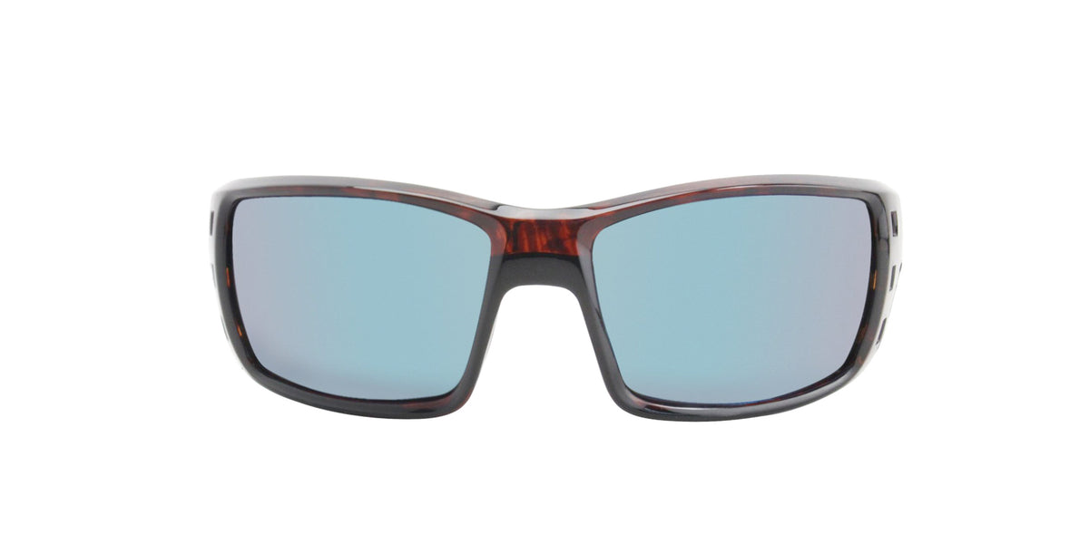 Costa Del Mar - Permit Tortoise/Blue Mirror Polarized Wrap Men Sunglasses - 62mm