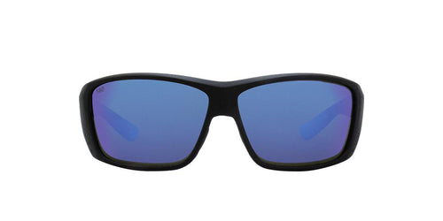 Costa Del Mar - Cat Cay Black/Blue Mirror Polarized Rectangular Men Sunglasses - 61mm