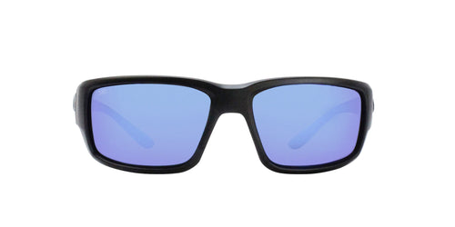 Costa Del Mar - Fantail Black/Blue Mirror Polarized Wrap Men Sunglasses - 60mm