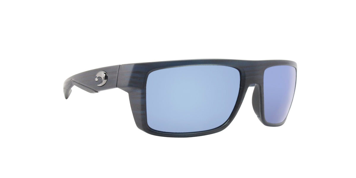 Costa Del Mar - Motu Black/Blue Mirror Polarized Rectangular Men Sunglasses - 57mm