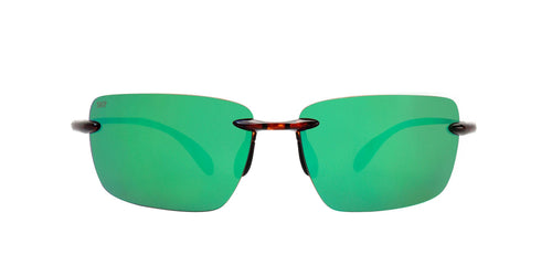 Costa Del Mar - Gulf Shore Tortoise/Green Mirror Polarized Rimless Men Sunglasses