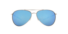 Costa Del Mar - Piper Velvet Silver/Blue Mirror Polarized Aviator Unisex Sunglasses - 57.9mm