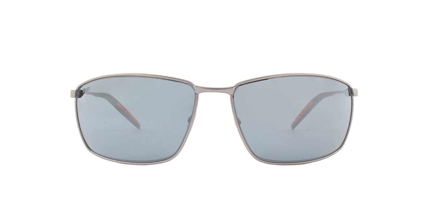 Costa Del Mar - Turret Silver/Gray Mirror Polarized Rectangular Unisex Sunglasses - 61.3mm