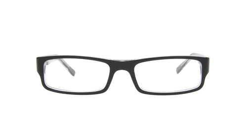 Ray Ban Rx - RX5246 Top Black on Transparent/Clear Rectangular Unisex Eyeglasses - 50mm