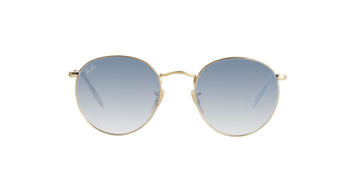 Ray Ban - Round Flat lenses Gold Oval Unisex Sunglasses - 53mm