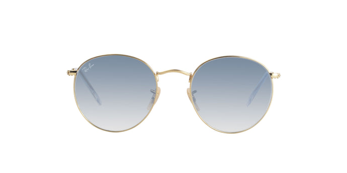 Ray Ban - Round Flat lenses Gold/Blue Gradient Oval Unisex Sunglasses - 53mm