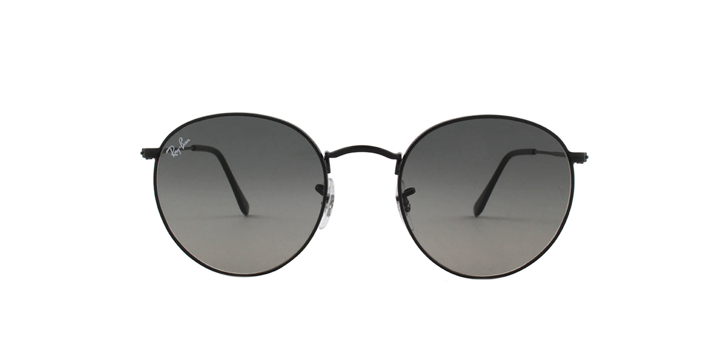 Ray Ban - Round Flat lenses Black Round Unisex Sunglasses - 53mm