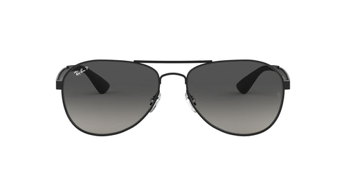 Ray Ban - RB3549 Black/Gray Gradient Polarized Aviator Unisex Sunglasses - 58mm